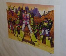 G1 Transformers Constructicons Mixmaster Long Haul Scrapper Hook Poster 11x17