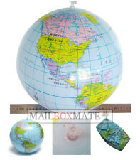 Inflatable Globe Map Ball World Earth Geography Blow Up Atlas Educational Toy