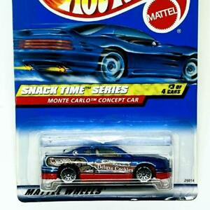 2000 Hot Wheels Snack Time Series 3/4 Monte Carlo Concept Car Blue Red Base LWs