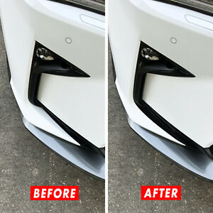 FOR 16-19 Lexus RX Bumper Lip Splitter GLOSS BLACK Precut Vinyl Decal Overlays