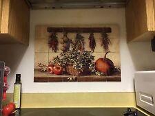 "Hangable Tile Mural  / Kitchen Backsplash / Kitchen Art / Pumpkin Art 17""x25.5"""