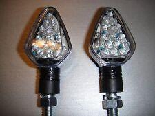 2 X LED CARBONO Moto Luz direccional HUSABERG FES 600 E,FE 501 e,FC 499MX,FE350,