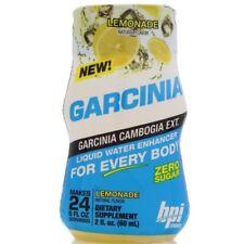 BPI Sports Garcinia Lemonade Liquid Water Enhancer 2oz Bottle 24 Serving QTY 6