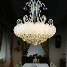 LED Bedroom Crystal Chandelier Light Lighting Dining Room Ceiling Chrome Lamp