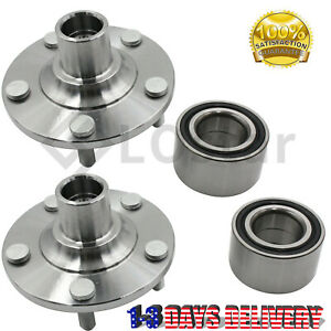 Pair (2) Front Wheel Hub & Bearing Assembly Fits MAZDA PROTEGE 01-03 / PROTEGE5