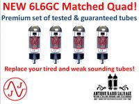 MATCHED QUAD - (4x) NEW 6L6GC JJ / Tesla Audio Output Tubes