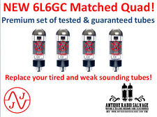 MATCHED QUAD - (4x) NEW 6L6GC JJ / Tesla Audio Output Tubes