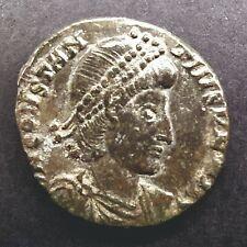 Follis Constantius Ii Ancient Rome Coin Fallen Horseman Very Rare Fine Ad351-354