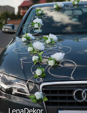 wedding car decoration, ribbon, bows, POLA1 white ,prom limusine decoration