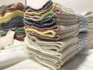 MamaBear Natural Cotton Sherpa Reusable Cloth Wipes