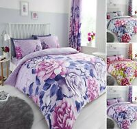 Luxuries AUBERY Floral Reversable Duvet Cover + Pillow Case Bedding Set All Size