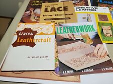 VINTAGE LOT TANDY CRAFTOOL LEATHER PATTERNS, STENCILS, DOODLE PAGES, BOOKS