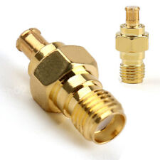 New SMA Female Jack To MCX Male Plug RF Coax Adapter Connector Gold Plating