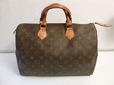 Auth Vintage Louis Vuitton Malletier Monogram Canvas Speedy 35 Top Handle Bag!!