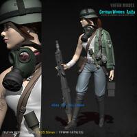 German Women Anita 1/35 Scale Unpainted Model Kits YUFAN Model Resin Figurine