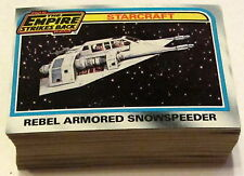 1980 EMPIRE STRIKES BACK SERIES 2 CARD LOT - 66 CARDS - FROM VENDING CASE