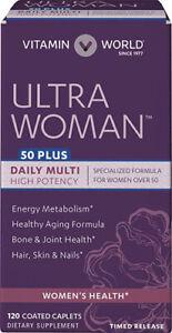 Ultra Woman 50Plus Daily Multi-=Vitamin - 120 Coated Caplets