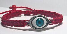 Evil Eye Protection & good luck Red String Braided bracelet -evil eye amulet
