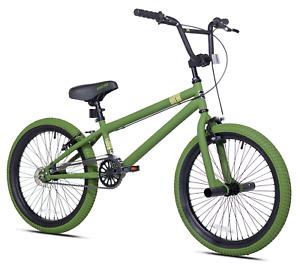 "Kent 20"" BMX Bike Freestyle Boy's Sport Bicycle, Lightweight, Army Green NEW"