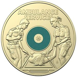 "Australia 2021 Ambulance Service $2 Coloured UNC Coin in 2x2"" Holder"