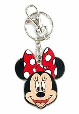 Disney Minnie Mouse Two Sided Colored Pewter Key Ring Keychain Keyring