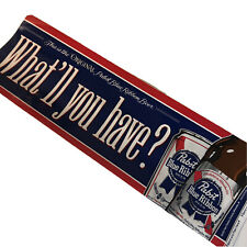 """Pabst Blue Ribbon Beer Bumper Sticker """"What'll You Have?� Pbr Milwaukee Window"""