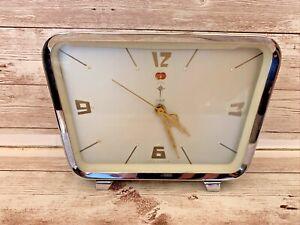 Vintage Retro 1950s 1960s Polaris Green Alarm Clock Wind Up Mechanism