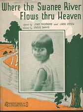 Where the Swanee River Flows Thru HeavenBaby Rose Dick Van Dyke TV Sheet Music