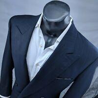 Ermenegildo Zegna Mens Double Breasted Blazer 42R (52 euro) msrp $1750 Navy Blue
