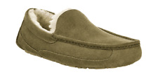 Men's UGG Ascot Suede Slipper Moss Green Suede