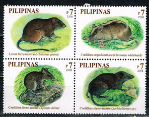 Philippine Island Tropical Fauna Rodents set 2008 MNH