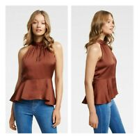 FOREVER NEW | Womens Bonnie Button-Front Halterneck Top [ Size AU 14 or US 10 ]