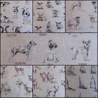 Clarke & Clarke Linen Blend Curtain Fabric £15.99 Metre -147 cm - Wide