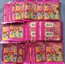 Panini Disney Princess Glamour 200 Stickers Lot of 40 Packets Packs Italy
