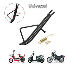 Motorcycle Electric Scooter Kickstand Side Stand Leg Prop Stable Black Universal