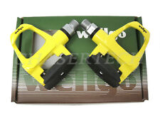 "New Wellgo R096B Road Bike Magnesium Pedals Cr-Mo Axle 9/16"" Yellow"