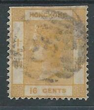 Hong Kong: 1863; used, Scott 16, cut at top, but good piece, cat 77,50 .EBHK02