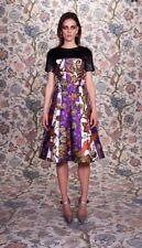 Balenciaga Nicolas Ghesquiere Floral Silk Dress Faux Leather 2011 Collectors 38
