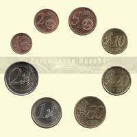 1 , 2 , 5 , 10 , 20 , 50 euro cent oder 1 , 2 Euro Kursmünze 1999 - 2021 Kms NEU