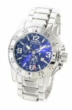 New Invicta 6106 Reserve Excursion SWISS MADE Chronograph BLUE Dial Steel Watch