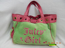 JUICY COUTURE HANDBAG-JUICY GIRL-PINK & GREEN-STAINED, WORN & DISTRESSED-AS IS!