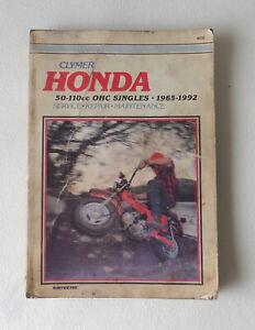 Honda 50-110cc OHC Singles 1965-1992 Service Repair Manual M310 - Clymer