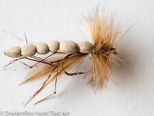 12 FOAM BODY DADDY LONG LEGS DRY FLY in size 10,12,14,16 by Dragonflies