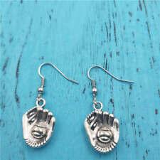 baseball glove Silver earrings,women Fashion pendants jewelry handmade ear stud