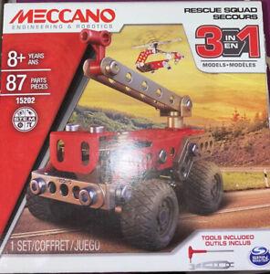 New Meccano 3 Model Set Rescue Force