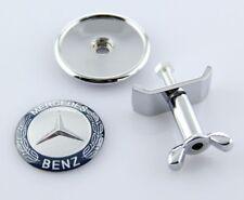 Mercedes Benz Blue Silver Bonnet Hood Badge Emblem A B C E S ML Class 44mm 45mm