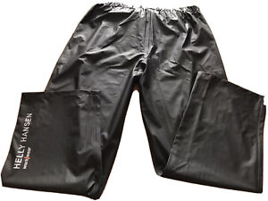 Mens 2XL Helly Hansen Black Voss Workwear Waterproof Pants New with Tags.