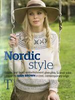KNITTING PATTERN Ladies Nordic Jumper Scandi Yoke Sweater Debbie Bliss 4ply
