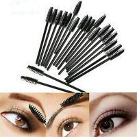 50X Disposable Makeup Eyelash Mascara Wands Eyeliner Brush Applicator Tool Black