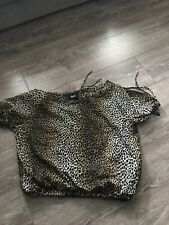 D&G Leopard Print Top Size 46